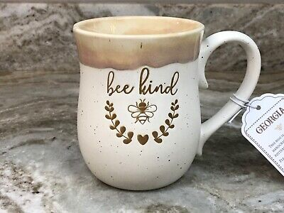 Large Coffee Mug Bee Kind. Ivory And Brown. LaRochelle. 18 Ounce. New. Ivory Coffee Mug