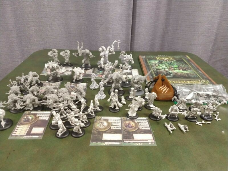 Hordes Circle Orboros Large Army Lot Unpainted As Is condition
