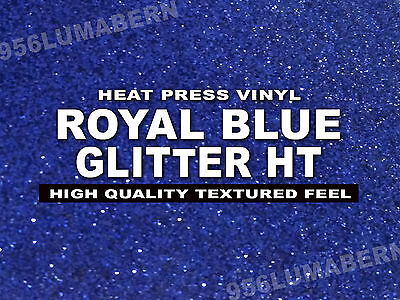 12x20 Royal Blue Glitter Heat Transfer Vinylt-shirt Sheetrollthermal Press