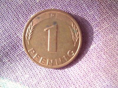 Münze 1 Pfennig Bundesrepublik Deutschland 1980 D