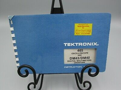 1974 Tektronix 465 Oscilloscope And Dm43dm40 Digial Multimeters Manual Ms1000