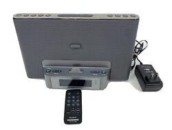 SONY iPod Alarm Clock Radio Speaker Dock ICF-CS15iP with Remote