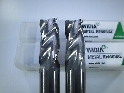 Lot 2 Pcs Widia Carbide 12 End Mill 3 Flute .030 Radius Milling Tool Bits