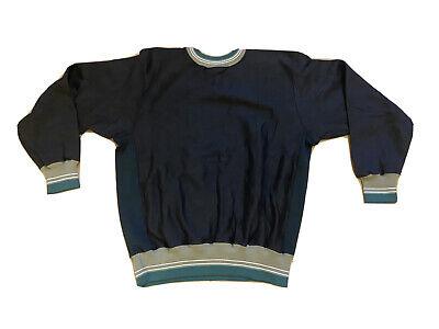 Vintage 90s 80s Paolo Gucci Black Pullover Sweatshirt Crewneck Mens 2XL