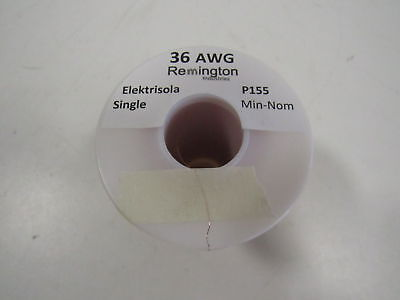 Remington Industries 36SNSP.25 36 AWG Magnet Wire, Enameled Copp (H159511)
