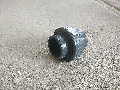 Lot 6 Each 1-14 Union Pvc Gray 4080 Slip With Epdm O-ring