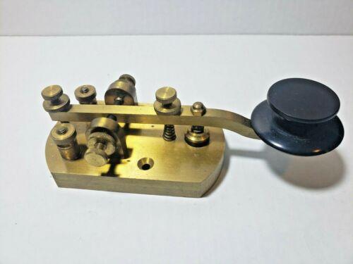 Vintage RARE Signal Electric Brass Morse Code Telegraph Key w/Box FREE SH