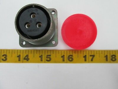 Amphenol 3 Pin Connector Ms3102e20-3s Allum Circular Military Comunnications T
