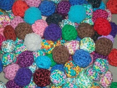 HANDMADE Crochet Yarn Ball Cat Toys - Set of 6 - Mixed Assortment - NEW