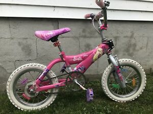 "Girl's 14"" Barbie bike"