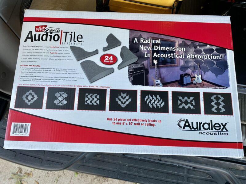 Auralex AudioTile Shockwave Acoustical Absorption - 24 Piece Set - Used