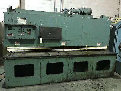Used Allsteel 14 X 10 Hydraulic Metal Shear 40 Backgauge