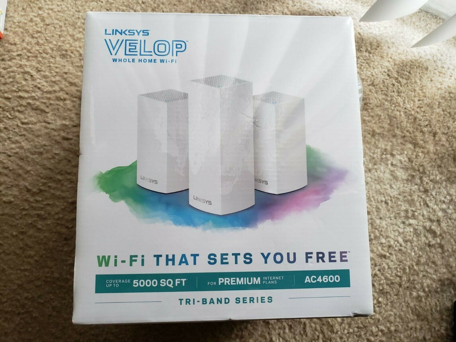Linksys Velop Ac4600 Whole Home WiFi System Tri-band Series Vlp0203bf - $179.88