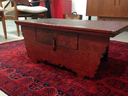 Oriental Chinese Laquer Red Coffee Table Marrickville Marrickville Area Preview