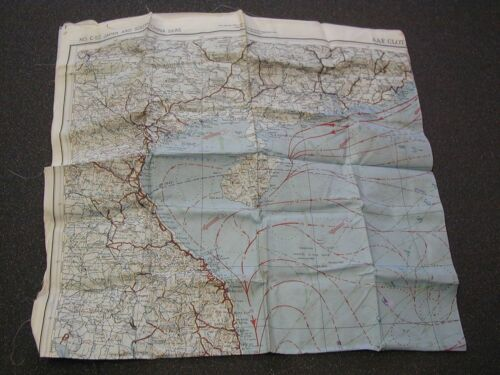RARE WWII AAF Silk Survival Chart Map of Japan East China Sea & South China Seas