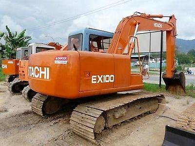 Hitachi EX100 & EX100M Excavator / Digger Workshop Manual