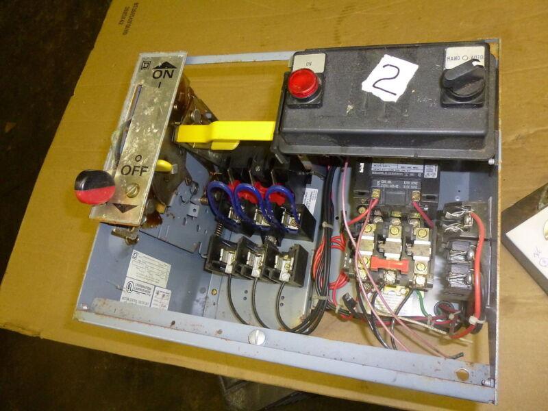 SQUARE D MOTOR CONTROL CENTER K-976,686 NEMA SIZE 1 CLASS 8536 TYPE SC03 #2