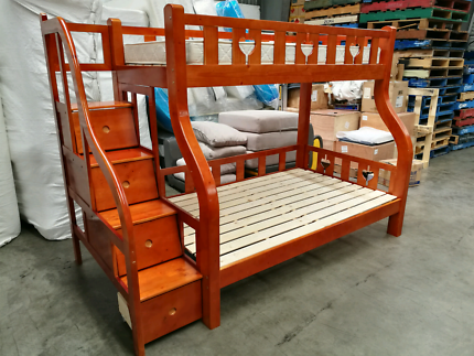 brand new display piece real wood bunk bed Contact:Chris ****2262