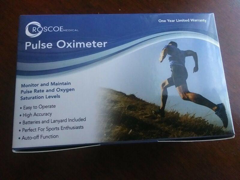 Roscoe Medical Finger Pulse Oximeter O2 Monitor, Pulse Ox Finger Oxygen Monitor