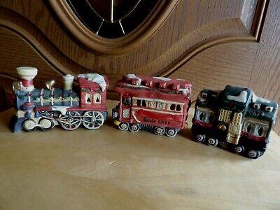 Christmas Train L.R. 1993 set of 3 ceramic Christmas decoration