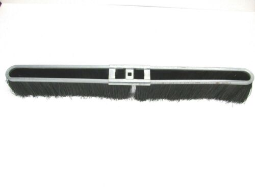 "NOS! 24"" BLACK FLOOR BRUSH 2-1/2"" BRISTLES, METAL FRAME"