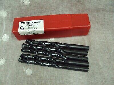 TITAN TWIST DRILL ~ Qty 5 ~ Style 400 ~ Size 3/8