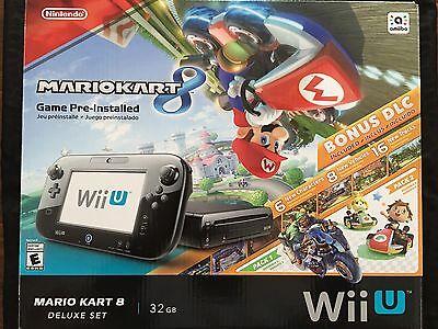 Usado, Nintendo Wii U Mario Kart 8 Bundle Deluxe Set 32gb Console (Black Model) segunda mano  Embacar hacia Argentina