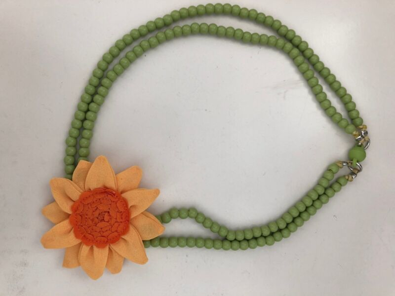 gymboree necklace sunflower smiles EUC accessory jewelry
