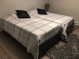 Twin Bed(s) with Mattresses & Novaforms