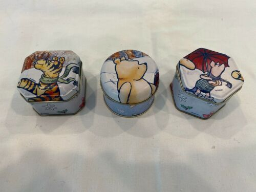 Classic Winnie The Pooh Set of 3 Scented Candles Decorative Tins Vanilla Scents
