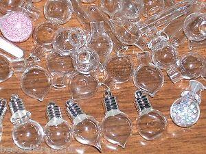 10pc Mix Glass Bottle Pendant Vials small charm rice Lot necklace Huge wholesale