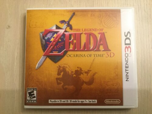 Replacement Case (NO GAME) Legend Of Zelda Ocarina Of Time 3D - Nintendo 3DS