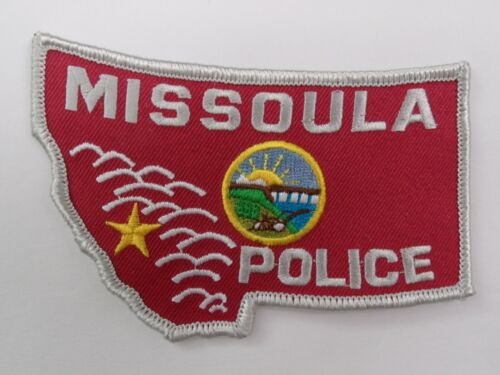 MISSOULA, MT MONTANA - PD POLICE SHERIFF Red & White patch.