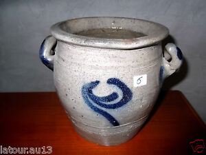 n 176 6 pot en gr 232 s ancien bleu et gris collection d 233 co ebay