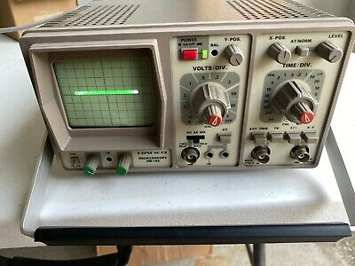 Hameg Oscilloscope Hm-103 10 Mhz 1 Channel Power On With Manual Leads