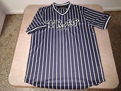 Black and White REBEL MINDS Pinstripe TRAP HOUSE V-Neck, Urban, pullover jersey.
