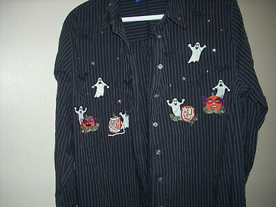 Homemade Scary Costume (Halloween Costume Scary Home Made Spooky Button Up Shirt Size Boys Large)