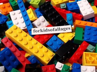 100 Bulk Lego Lot ONLY BRICKS BLOCKS Mixed Sizes All Basic Building Pieces Mix#1
