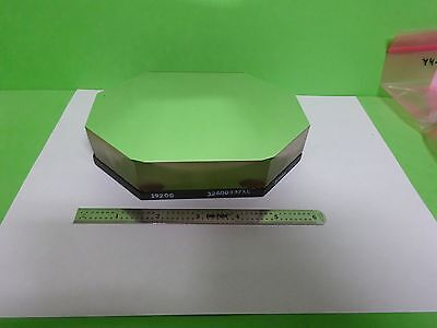 Huge Thick Heavy Optical Mounted Mirror Mil Spec Laser Optics As Is Biny4-28