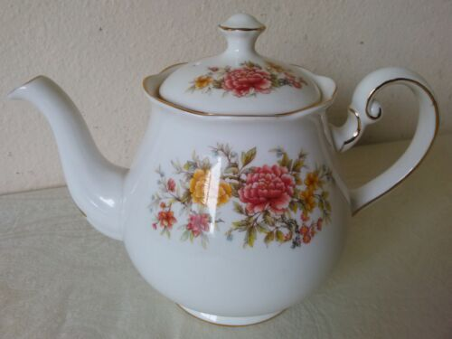 Colclough Bone China Floral Tea Pot Made in England