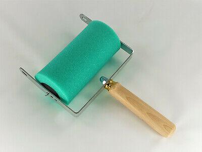Farbabroller Abrollapparat für Malerrollen mit Ersatz Schwammwalze