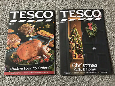 *TESCO 2019 UK CHRISTMAS GIFT & FOOD GUIDES PROMO CATALOGUES - GREAT CONDITION* ()
