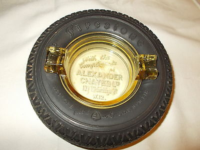 VINTAGE FIRESTONE TIRE ASHTRAY NO CHIPS OR CRACKS TIRE IS SOFT AND MINT!
