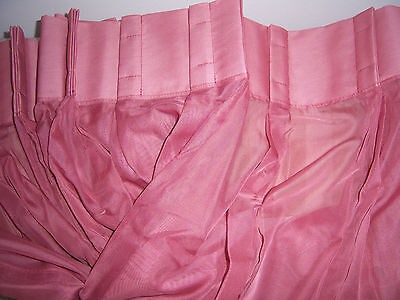 - JCPENNEY LISETTE VOILE SHEER PINCH PLEAT PANEL PAIR - 96 x 45 - YUMA ROSE