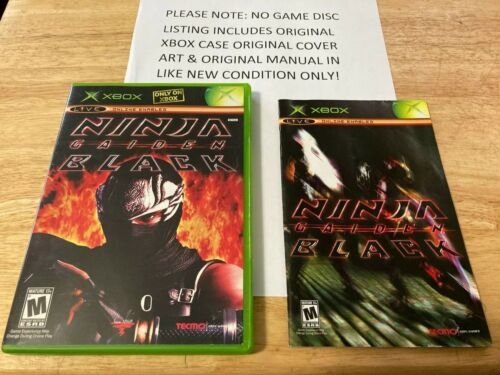 Ninja Gaiden Black Xbox Original Case Cover Art & Manual *NO GAME*