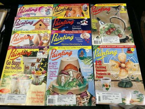 DECORATIVE ARTS PAINTING, LOT OF 10 MAGAZINES, 1999-2000, WITH PATTERNS