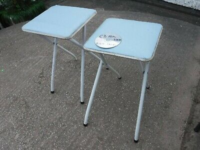 2  VINTAGE  FOLDING  STOOLS.   FREE  DELIVERY.