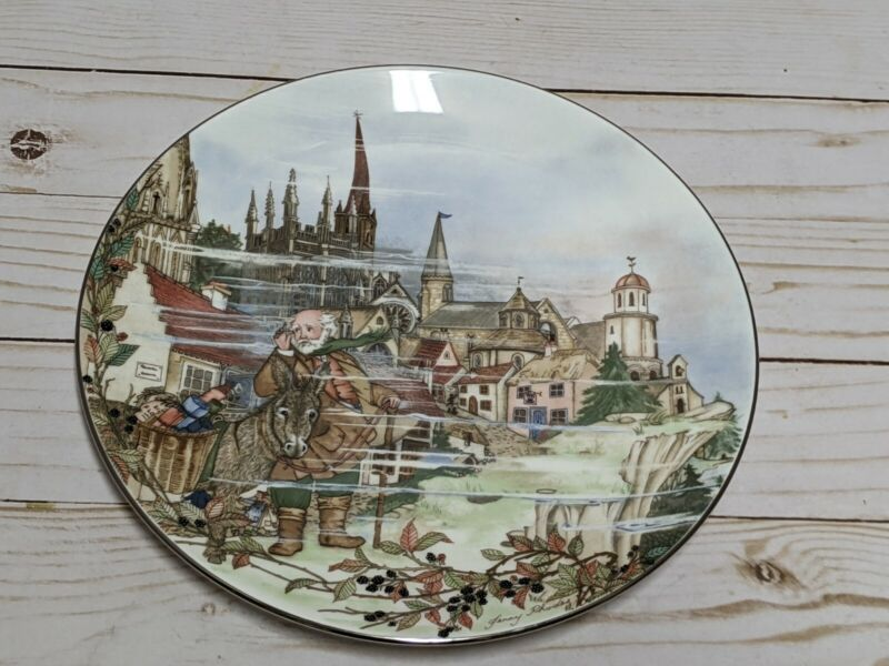Wedgwood The Bellringers Feasts & Festivals Collector Plate October