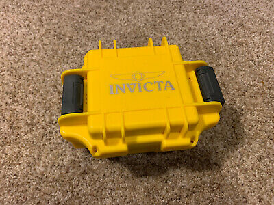 Invicta Unisex Watch Protective Travel Safeguard Yellow Hard Case