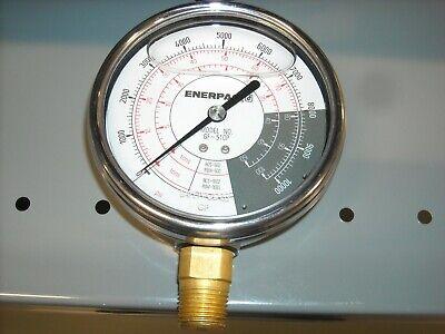 Gf-510p Gauge Liquid Filled Psitons 0-10000psi 0-50100 Tons New